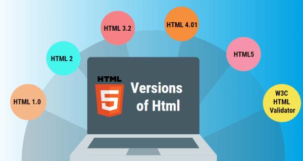 معرفی نسخه های مختلف HTML