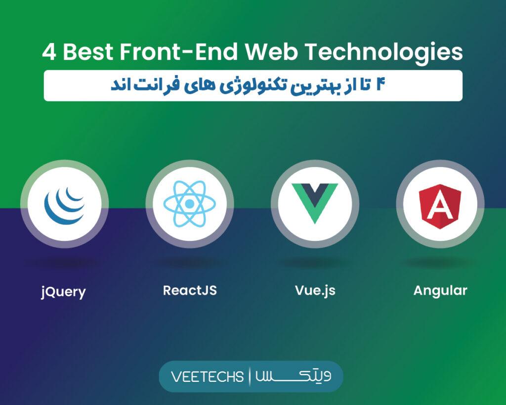 ۴ تا از بهترین تکنولوژی های فرانت اند